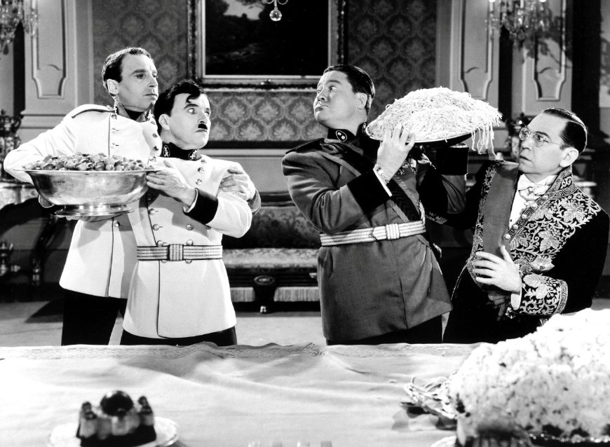 a review of the movie the great dictator The great dictator is the third of seven chaplin films being revived at the carnegie as part of a salute to chaplin that will include his accepting a special academy award on april 10.